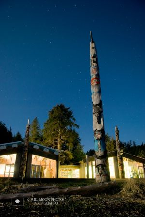 HAIDA HERITAGE CENTRE BY MOONLIGHT